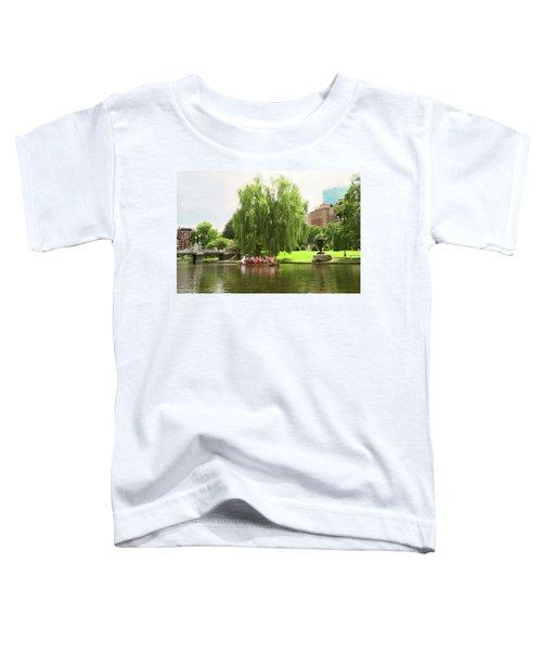 Boston Garden Swan Boat Toddler T-Shirt