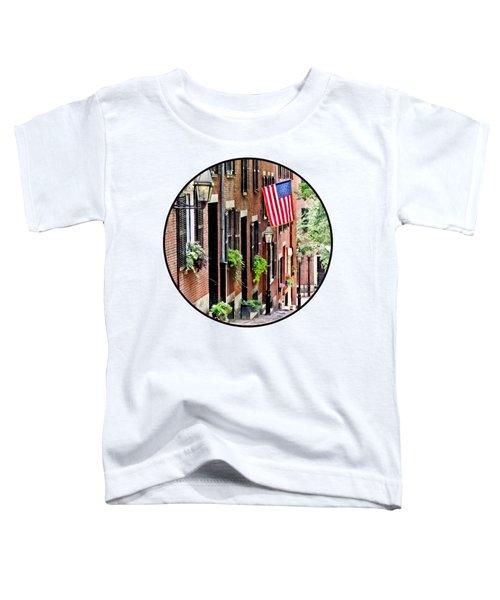 Boston Ma - Acorn Street Toddler T-Shirt
