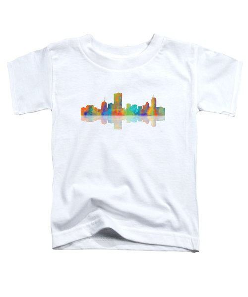Boston Ma. Skyline Toddler T-Shirt by Marlene Watson