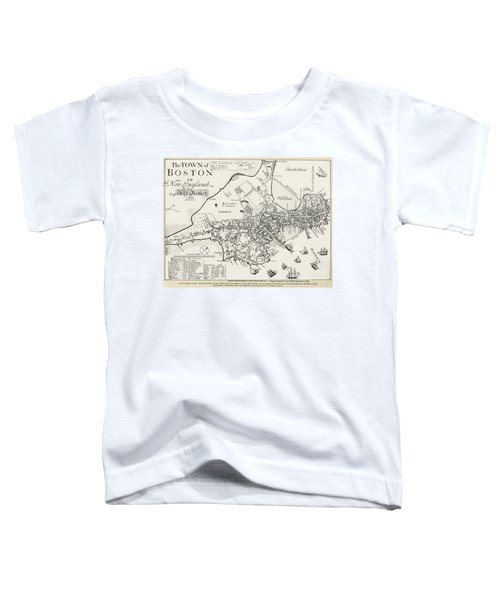 Boston Map, 1722 Toddler T-Shirt