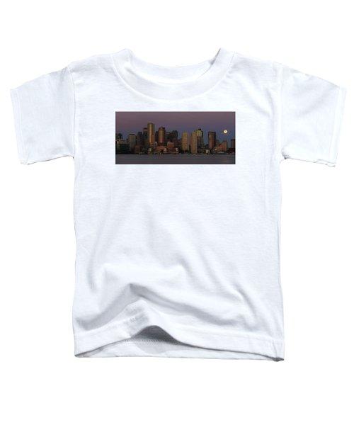 Boston Moonset And Sunrise Toddler T-Shirt