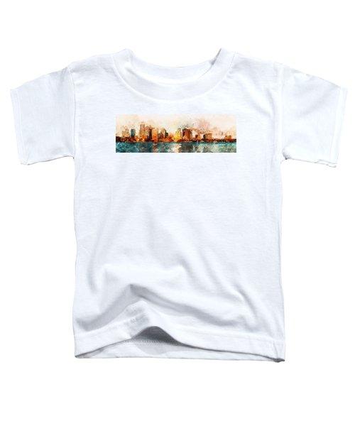 Boston, Panorama - 10 Toddler T-Shirt