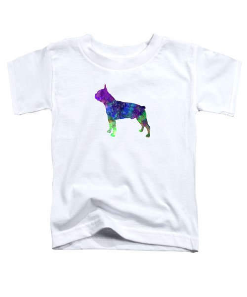 Boston Terrier 02 In Watercolor Toddler T-Shirt by Pablo Romero