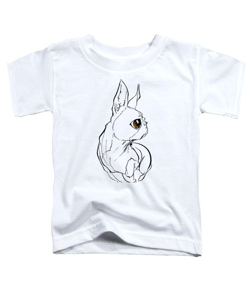Boston Terrier Gesture Sketch Toddler T-Shirt