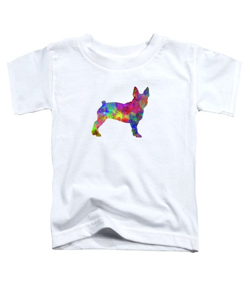 Boston Terrier 01 In Watercolor Toddler T-Shirt by Pablo Romero