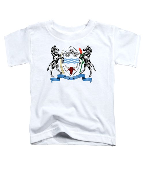 Botswana Coat Of Arms Toddler T-Shirt by Movie Poster Prints