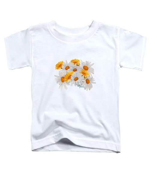 Bouquet Of Wild Flowers Toddler T-Shirt by Angeles M Pomata