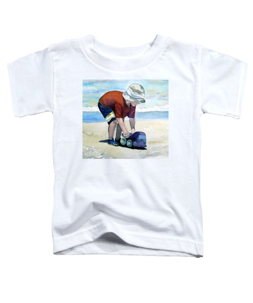 Boy With Truck Toddler T-Shirt
