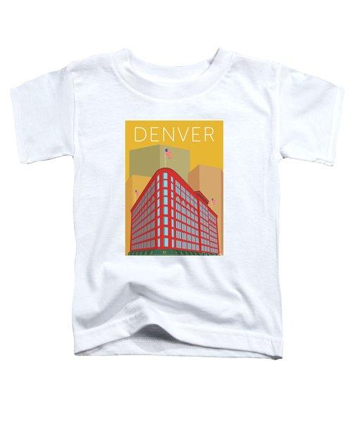 Denver Brown Palace/gold Toddler T-Shirt