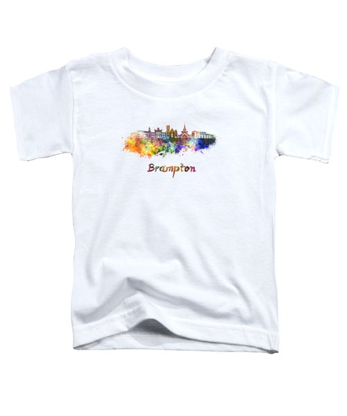 Brampton Skyline In Watercolor Toddler T-Shirt