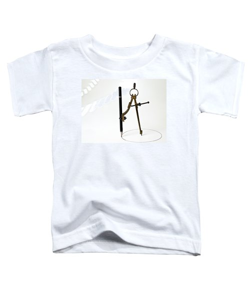Brass Compass And Pencil Toddler T-Shirt