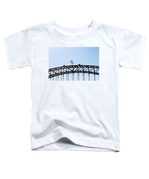 Toddler T-Shirt featuring the photograph Bridge Walk by Stephen Mitchell