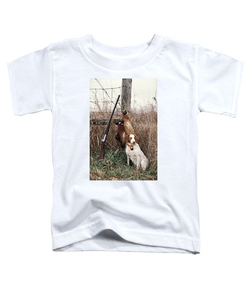 Brittany And Pheasants - Fs000757b Toddler T-Shirt