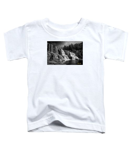 Toddler T-Shirt featuring the photograph Brooding Gooseberry Falls by Rikk Flohr