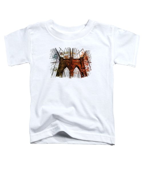 Brooklyn Bridge Art 1 Toddler T-Shirt by Di Designs
