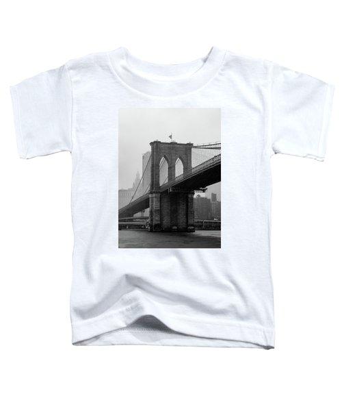 Brooklyn Bridge In A Storm Toddler T-Shirt