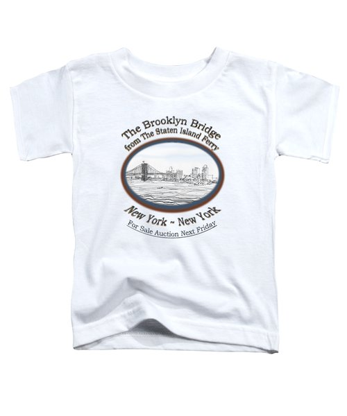 Brooklyn Bridge Toddler T-Shirt by James Lewis Hamilton