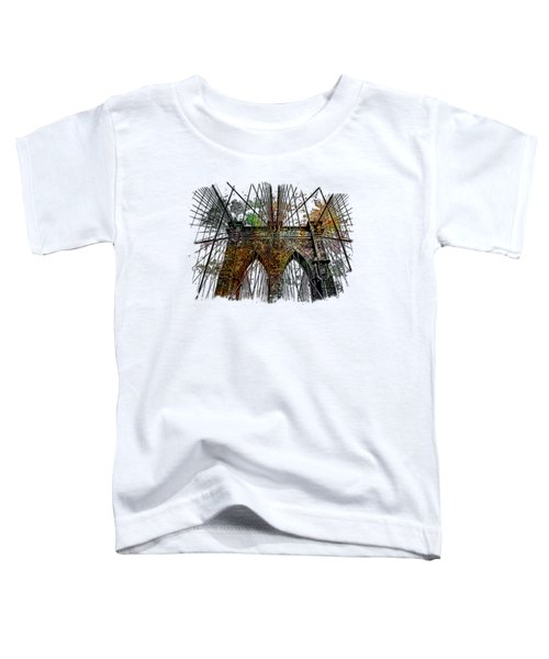 Brooklyn Bridge Muted Rainbow 3 Dimensional Toddler T-Shirt by Di Designs