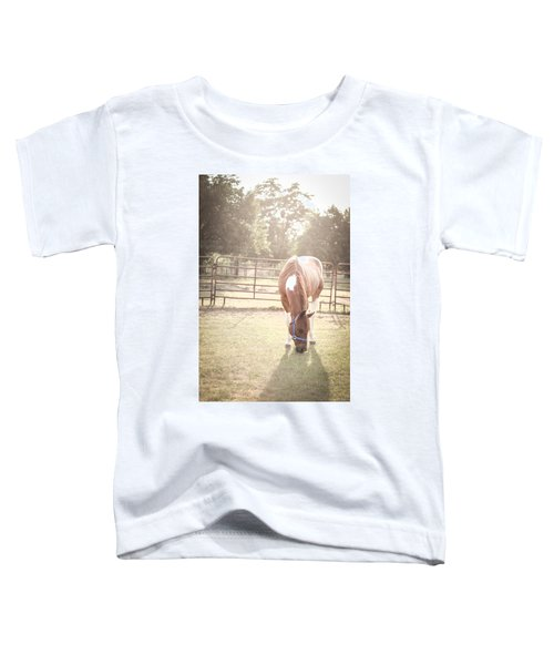 Brown Horse In A Pasture Toddler T-Shirt