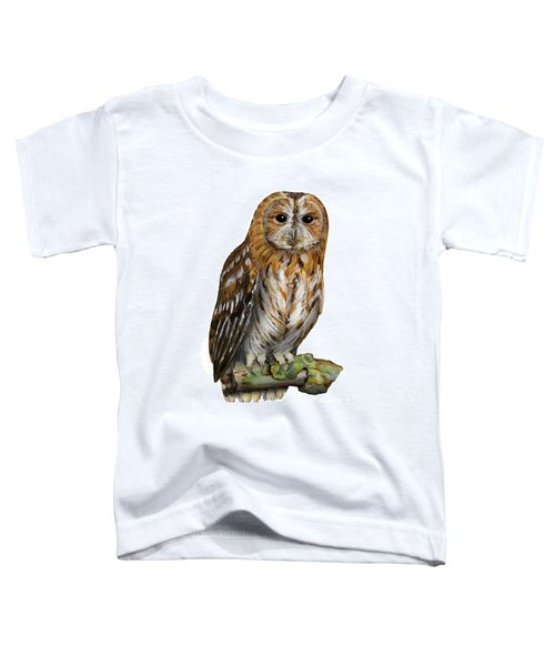Brown Owl Or Eurasian Tawny Owl  Strix Aluco - Chouette Hulotte - Carabo Comun -  Nationalpark Eifel Toddler T-Shirt