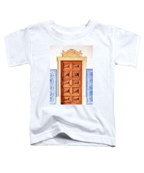 Brown Wood Door Of Old World Europe Toddler T-Shirt
