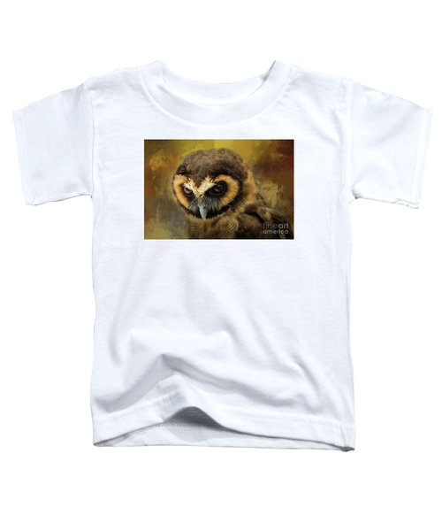 Brown Wood Owl Toddler T-Shirt