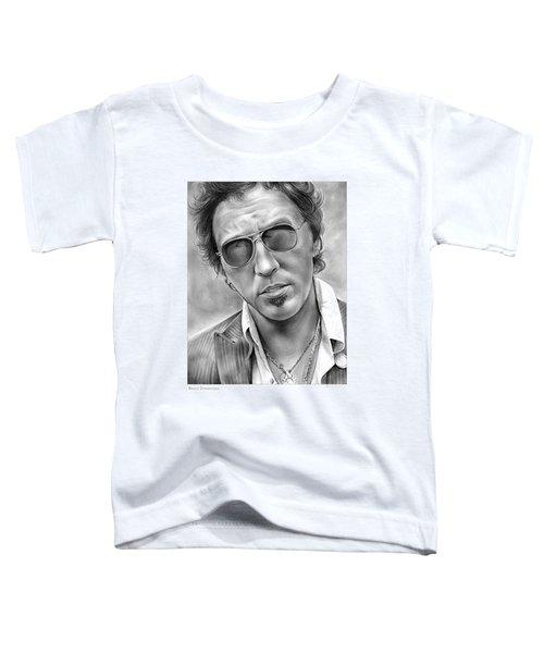 Bruce Springsteen Toddler T-Shirt by Greg Joens