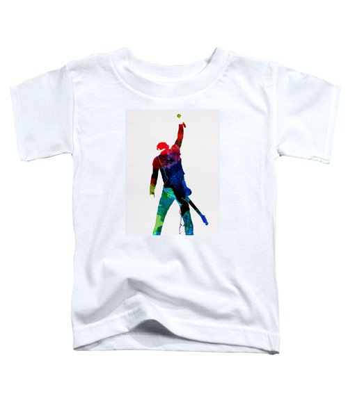 Bruce Watercolor Toddler T-Shirt by Naxart Studio