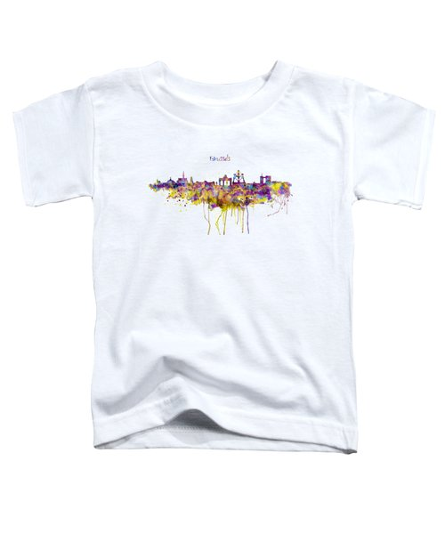 Brussels Skyline Silhouette Toddler T-Shirt by Marian Voicu
