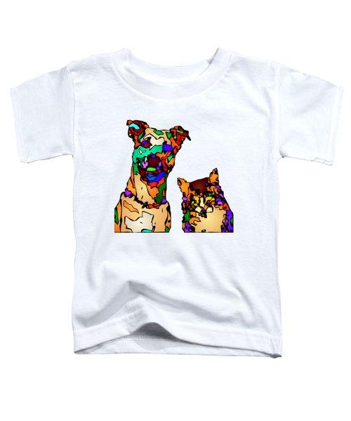 Buddies For Life. Pet Series Toddler T-Shirt