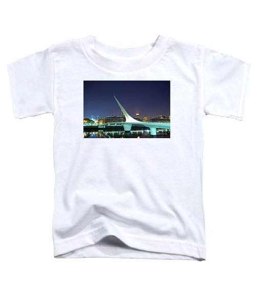 Buenos Aires - Argentina - Puente De La Mujer At Night Toddler T-Shirt