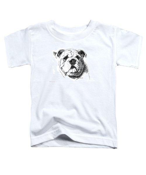Bulldog-portrait-drawing Toddler T-Shirt