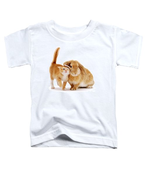 Bunny Rubbing Toddler T-Shirt