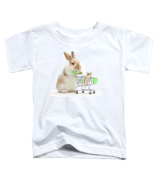 Bunny Shopping Toddler T-Shirt