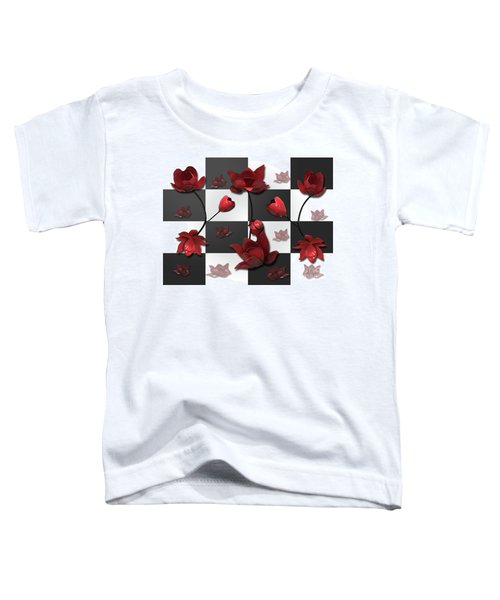 Burnt Crimson Flora Toddler T-Shirt
