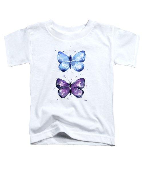 Butterflies Blue And Purple  Toddler T-Shirt