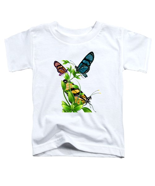 Butterflies On Leaves Toddler T-Shirt