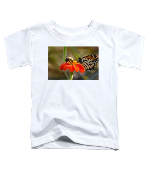 Butterfly And Bumble Bee Toddler T-Shirt