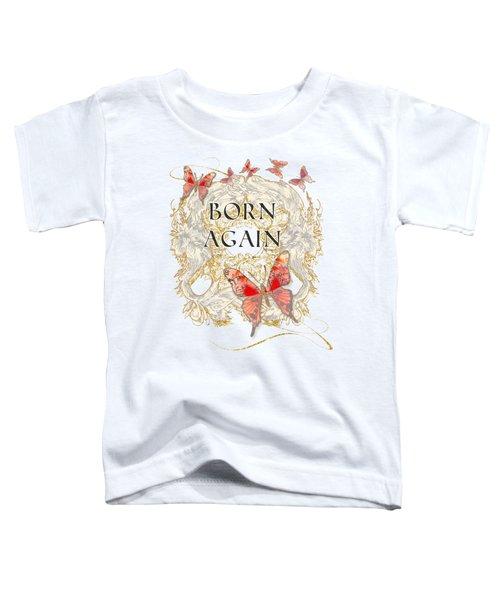 Butterfly Butterflies Swirling Born Again Christian Symbol Toddler T-Shirt