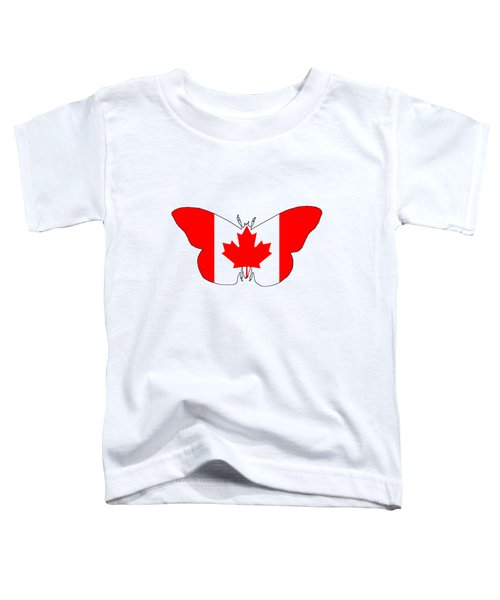 Butterfly Canada  Toddler T-Shirt by Mordax Furittus