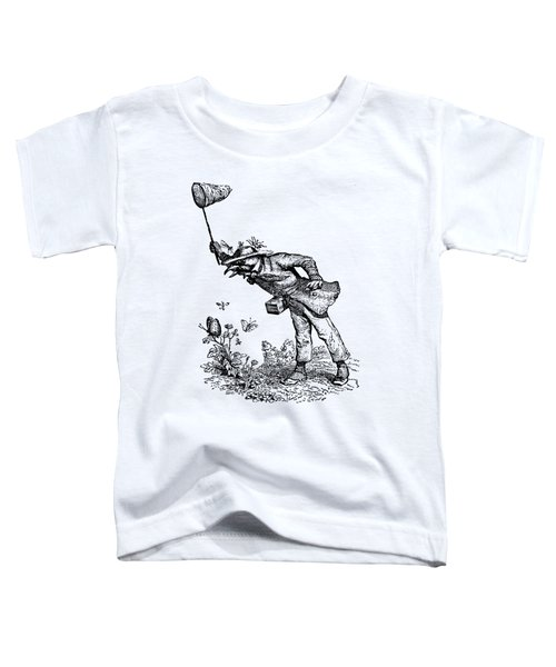 Butterfly Hunting Grandville Transparent Background Toddler T-Shirt
