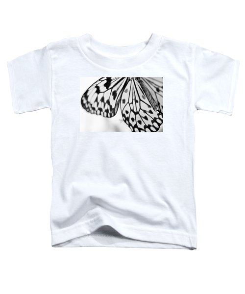 Butterfly Wings 3 - Black And White Toddler T-Shirt