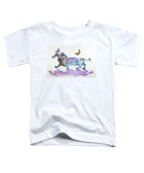 Butterfly Doxie Doo Toddler T-Shirt