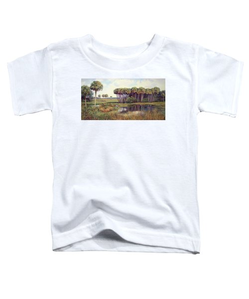 Cabbage Palm Hammock Toddler T-Shirt by Laurie Hein