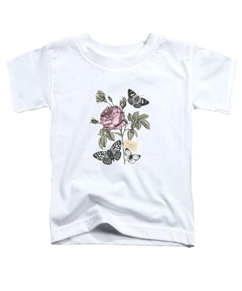 Cabbage Rose Toddler T-Shirt by Stephanie Davies
