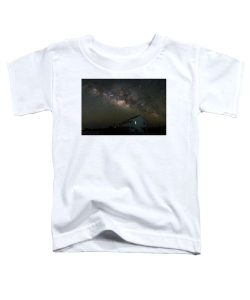 Cabin Under The Milky Way Toddler T-Shirt
