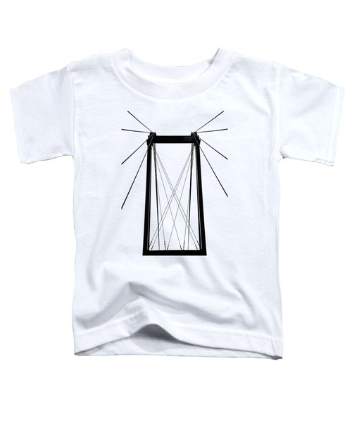 Cable Bridge Abstract Toddler T-Shirt