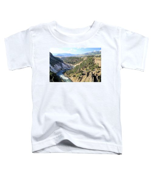 Calcite Springs Along The Bank Of The Yellowstone River Toddler T-Shirt