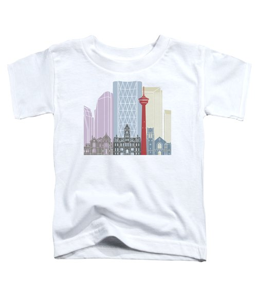 Calgary Skyline Poster Toddler T-Shirt