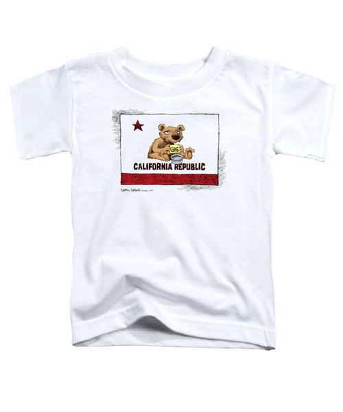 California Budget Begging Toddler T-Shirt